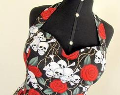 Vestido F.�nica rodado Skull III