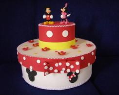 Caixa de bolo Mickey e Minie