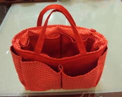 Organizador de bolsa po� vermelho