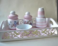 Kit de higiene em porcelana para beb�