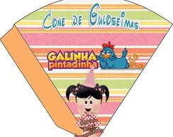 Cone da Galinha Pintadinha