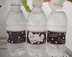 Agua personalizada de Casamento