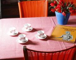 Toalha de mesa xadrez vermelho mi�do