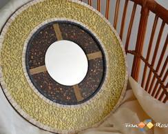"""Mandala em Mosaico """"Dourada"""""""
