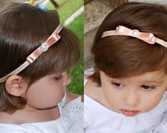 Faixa infantil BLAIR ros� la�o 7cm
