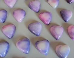 Sabonetinhos lilas artesanais
