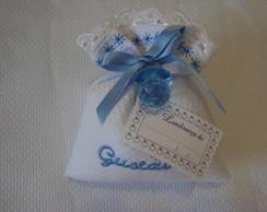 Lembran�a nascimento personalizada azul