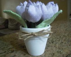 vaso de tulipas