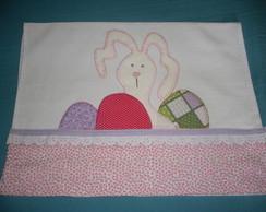 Pano de prato coelho rosado