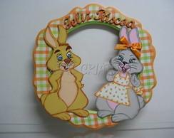 guirlanda casal de coelhos