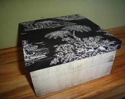 caixa com tampa em tecido
