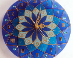 Rel�gio Mandala Azul