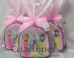 Mochila das Princesas bolso quadrado