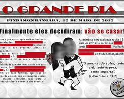Convite Estilo Jornal 2