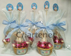 Kit cestinha coelho com bombons