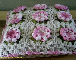 capa de almofada flor d�lia