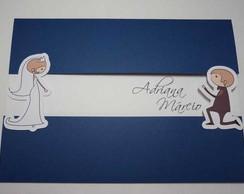 Convite de Casamento Noivinhos