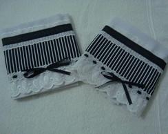 Panos de pratos - Preto/Branco 3op��es