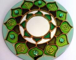 Mandala em Espelho Verde