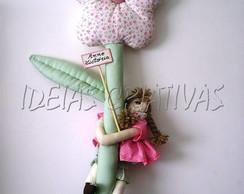Porta Maternidade Flor com Boneca