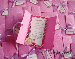 Convite Janelinha Vertical - Barbie