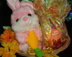Cestinha de P�scoa Coelhinha com cenoura