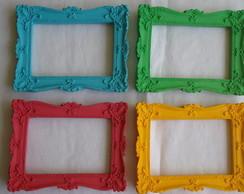 quarteto colorido p fotos ou espelhos
