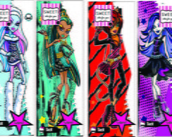 Monster High - marcador de livro