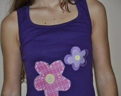 Camiseta -  Flores e Bot�es
