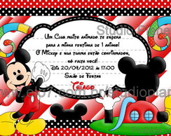 Convite Mickey Club House