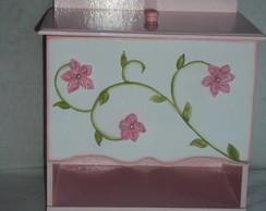 Porta fraldas rosa