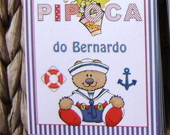 Etiqueta Pipoca: Ursinho Marinheiro