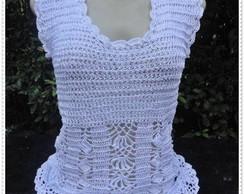 Blusa de Croch� Branca