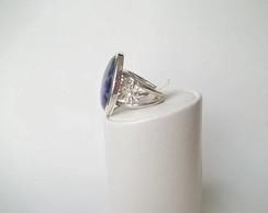 Anel prata 950 com sodalita cabochon