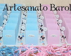 PORTA L�PIS NA BASE MINNIE E MICKEY BABY
