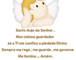 Adesivo Ora��o do Santo Anjo