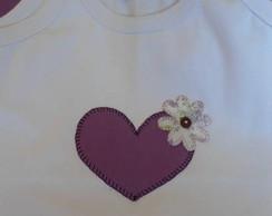 Ribana cora��o lil�s