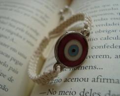 Pulseira olho grego vermelho