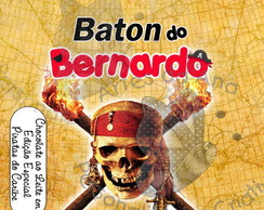 R�tulo Baton Piratas do Caribe