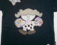 Camiseta Boneca com borboletas