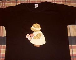 Camiseta Boneca com Flores 2