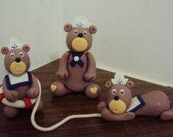 Topo de bolo ursinhos marinheiros