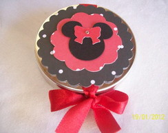 Latinha minnie scrapbook