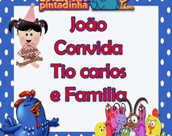 Convite Individual -  Galinha Pintadinha