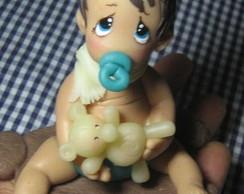 Baby Clarinha em tapete de urso