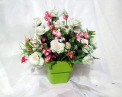 Mini Arranjo de Rosas Brancas