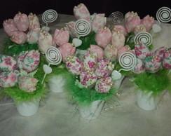 Vasinhos de tulipas para lembrancinhas