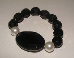 Pulseira Cristais facetados Preto 50% of