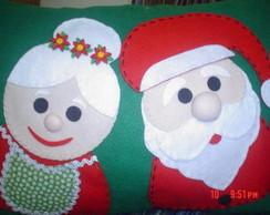 Almofada Papai e Mam�e Noel