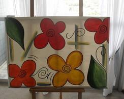 Tela Flores moderna